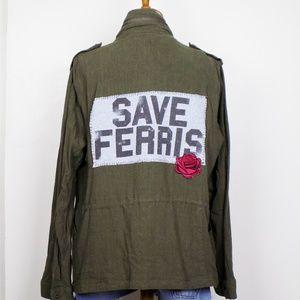 vintage style ferris Bueller utility jacket rose